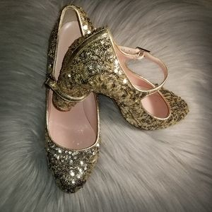 Kate Spade Sequin Angelique Mary Jane Heel Sz 6 B